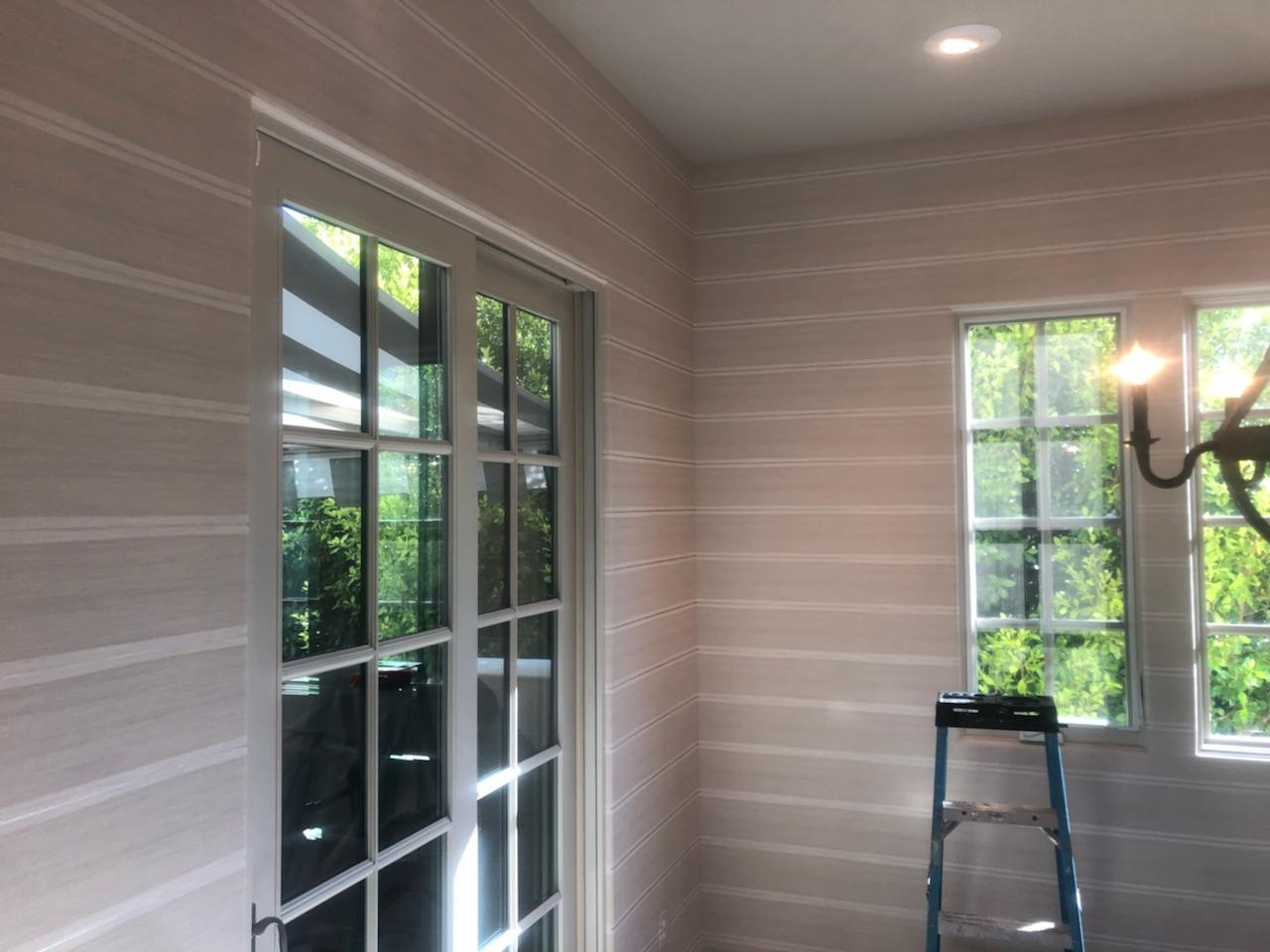 Horizontal Line Wallcovering & Installation